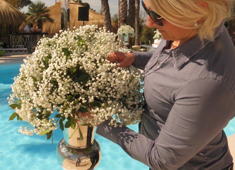 Cura nei dettagli allestimento fiori